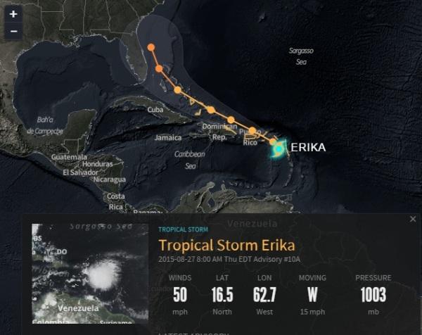 tormenta erika